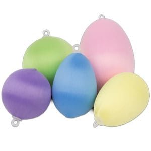 Satin Balls and Eggs