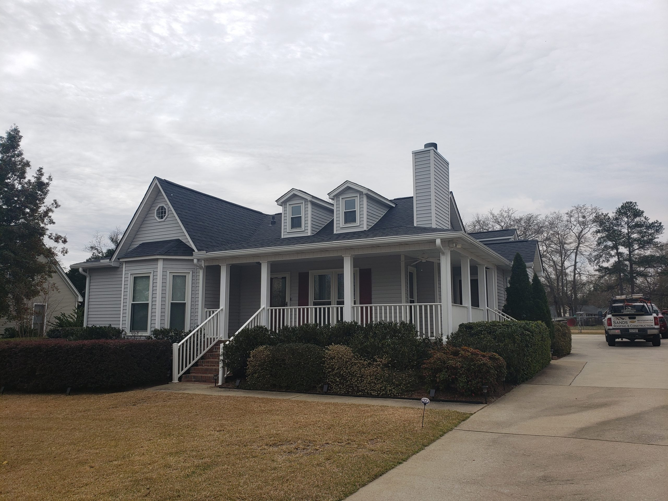 Lexington Home Roofed by Sands Roofing & Constructio